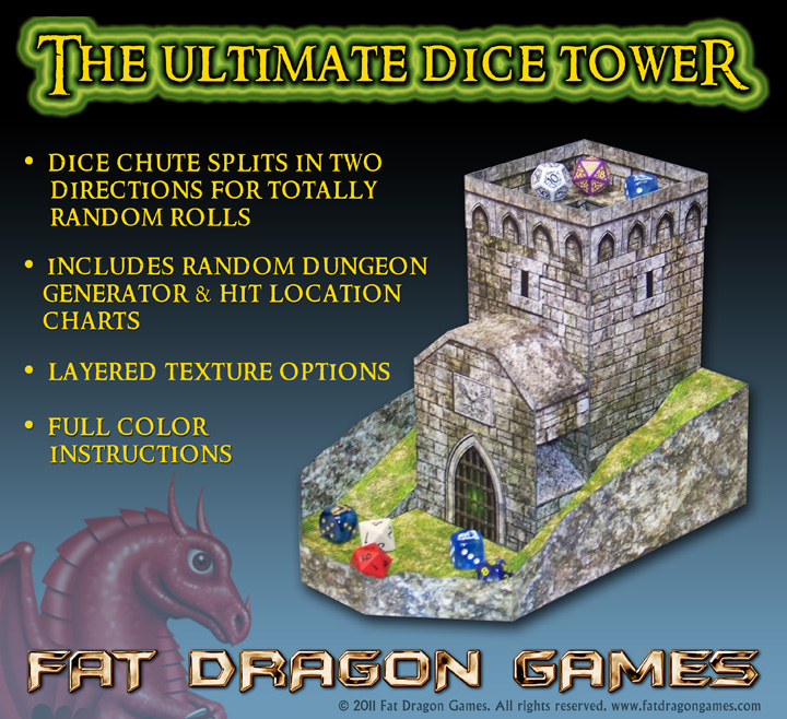 Ultimate Dice Tower FDG0115 - Fat Dragon Games