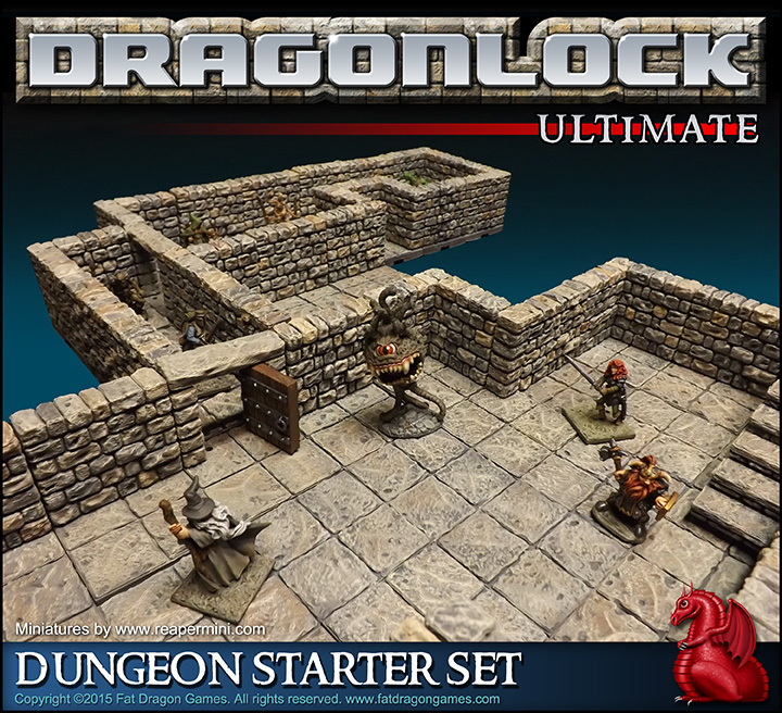 photograph about 3d Printable Dungeon Tiles known as DRAGONLOCK™ Best: Dungeon Newbie Mounted FDG0160 - Pounds