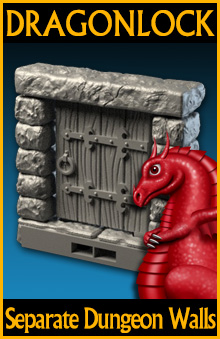 """graphic about Free Printable Dungeon Tiles known as DRAGONLOCKâ""""¢ Greatest: Dungeon Different Partitions FDG0204 - Bodyweight"""