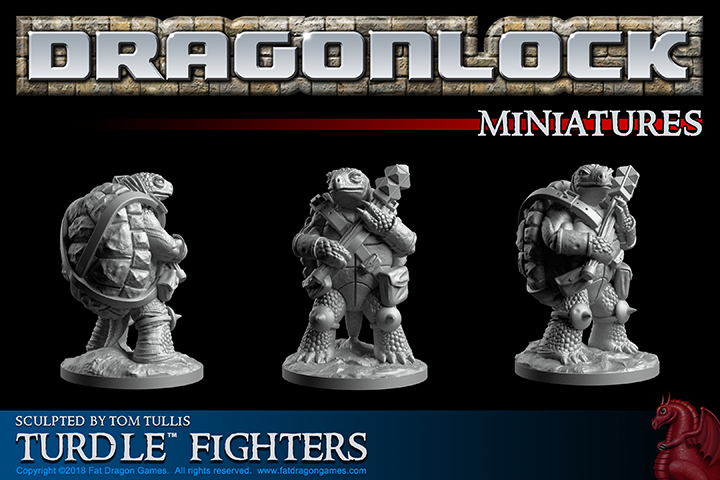 Turdle Adventurers 28mm Miniatures by Fat Dragon Games