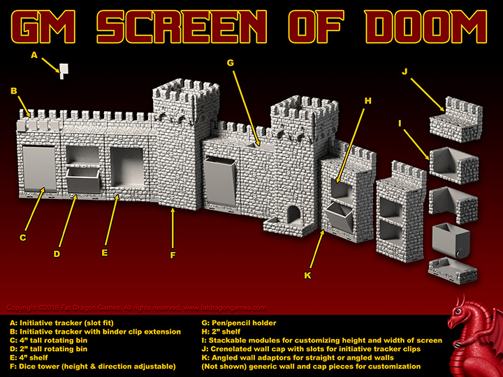 "graphic about Printable Dm Screen 5e titled DRAGONLOCKâ""¢ Final: GM Display screen of DOOM - Weight Dragon Game titles"
