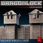DRAGONLOCK™ Ultimate: Village Walls & Gate FDG0189