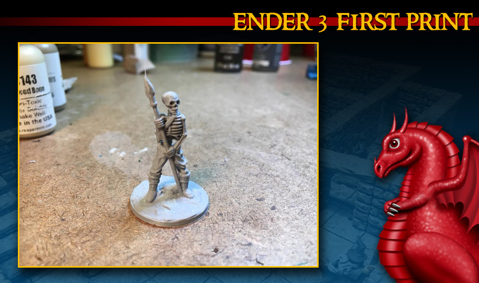 Creality Ender 3 first print! - Fat Dragon Games